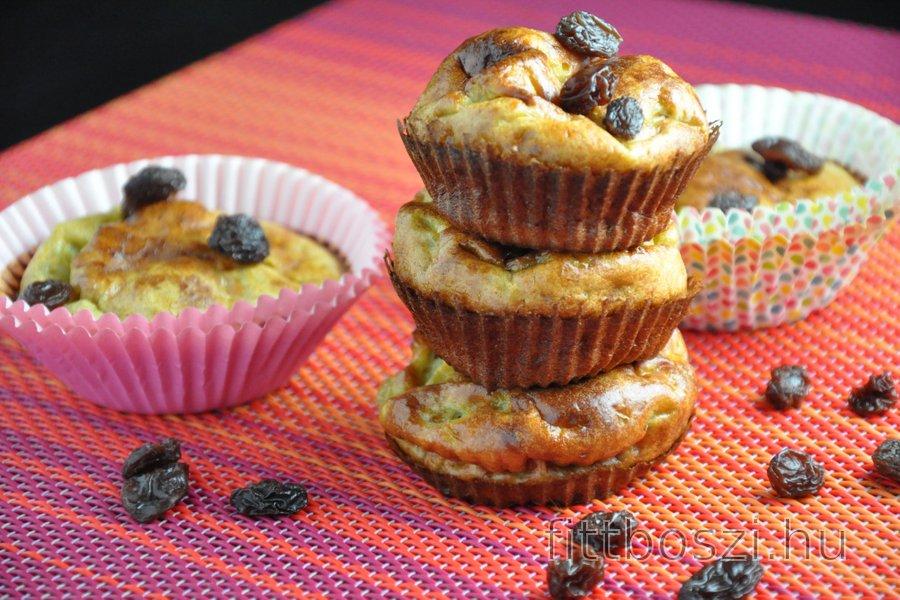 Egyszerű Fitnesz Banános Muffin (Gluténmentes, Cukormentes)