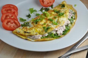 Fitnesz tonhalas omlett