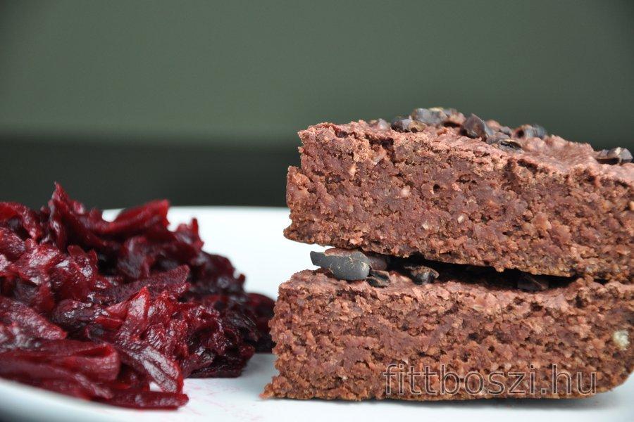 Gluténmentes Zabkásás-Céklás Brownie