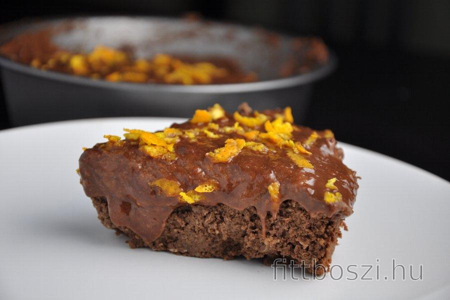 Egészséges Csokoládés-Narancsos Csicseriborsó Torta