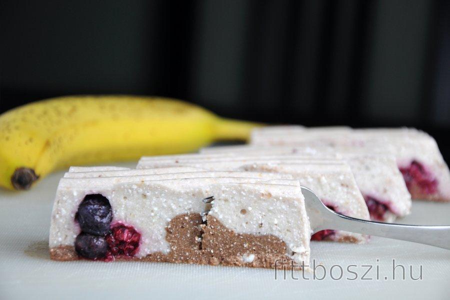 Sütés Nélküli Banános-Túrós Desszert (Gluténmentes)