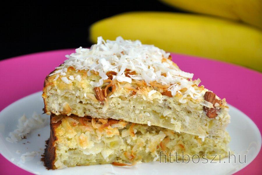 Egészséges Kókuszos-Banános Sütemény (Cukormentes és Gluténmentes)