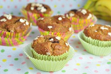 Egészséges Banános Zabpelyhes Muffin