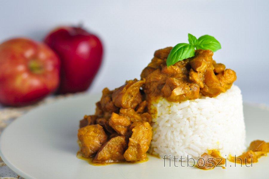 Fitness Currys Csirke Almával