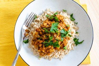 Könnyű Indiai Lencse Curry