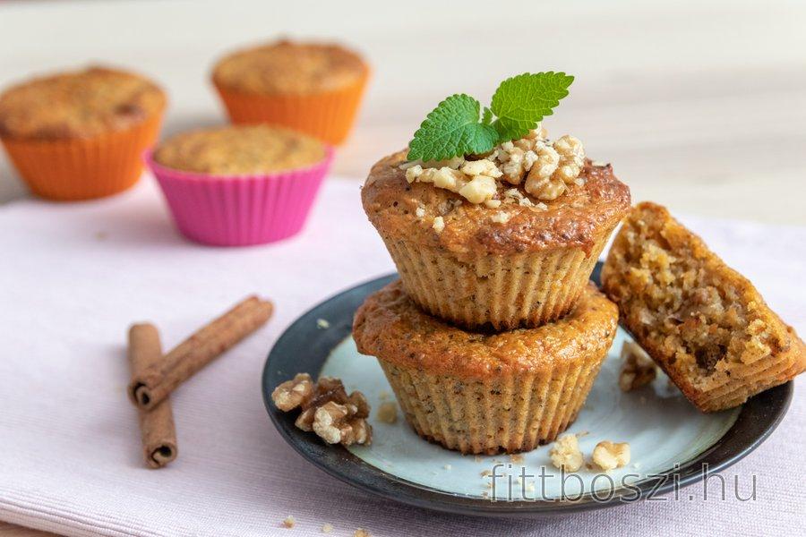 Egészséges sárgarépa muffin (tönkölylisztből)