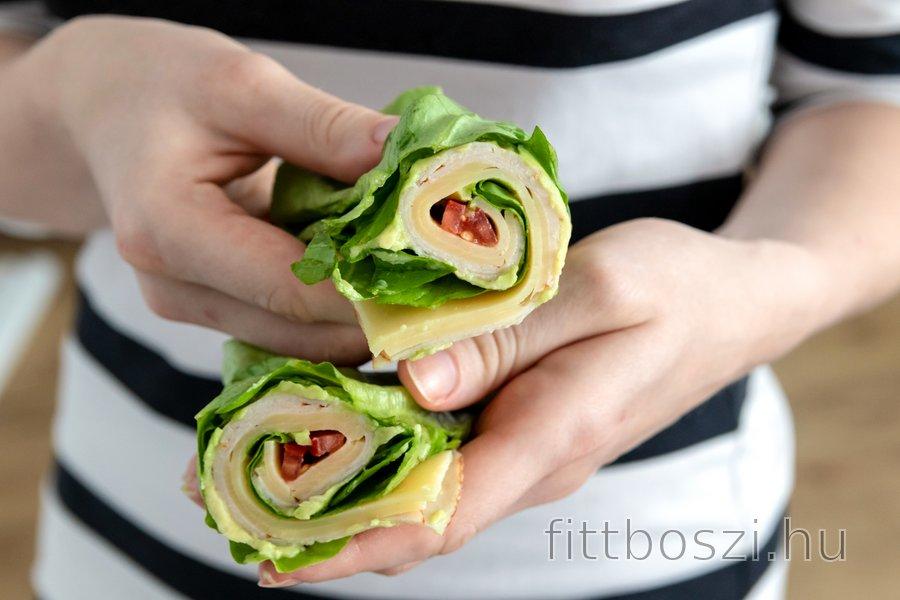 Alacsony szénhidráttartalmú saláta wrap