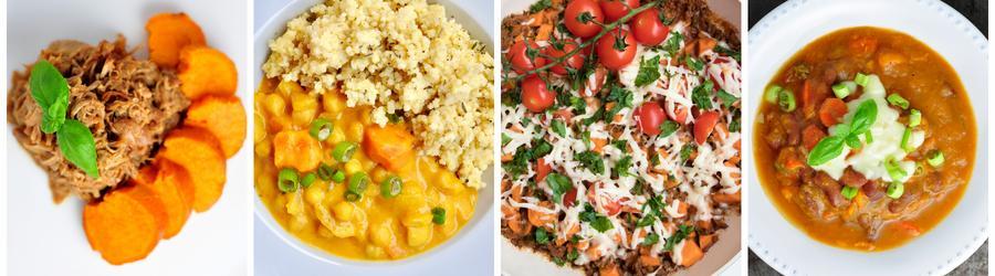 Egészséges Vacsora és Ebéd Receptek Édesburgonyával